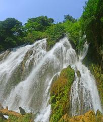 荔波小七孔拉雅瀑布自然风景