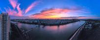 城市的黎明全景大图