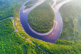 大兴安岭林海激流河白鹿岛