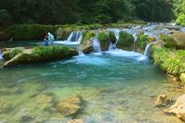 贵州荔波小七孔68级跌水瀑布