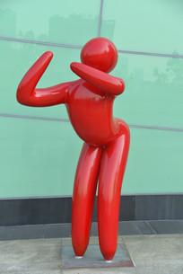 抽象人物雕塑-健身运动