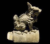 明代古建筑构件-龙形琉璃脊兽