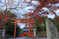 日本京都秋季寺庙
