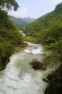 贵州天星桥星峡飞瀑自然风光