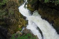 天星桥星峡飞瀑打邦河自然风光