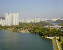 韩国水原城市及光教湖水公园