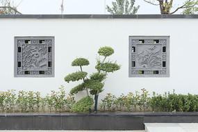 新中式庭院砖雕