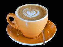 一杯意式拿铁咖啡