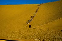 鸣沙山沙漠风光