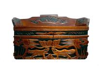 民国时期木匣及精美木雕