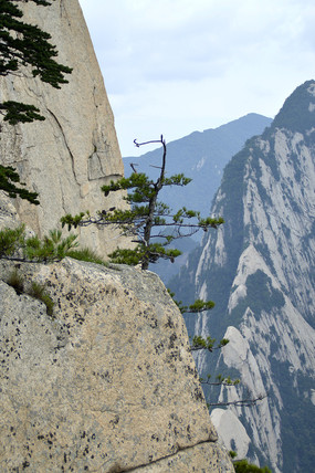 华山山峰悬崖