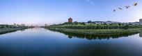 信阳浉河风光全景