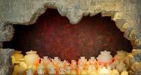 长沙窑铜官陶瓷窑炉复原场景