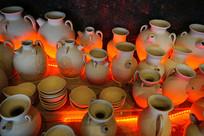 湖北铜官陶瓷窑炉烧窑复原场景