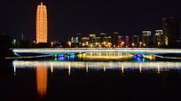城市的灯光和倒影