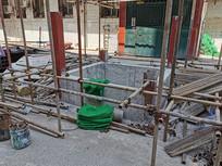 老房改造之户外电梯井施工