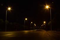 马路夜景唯美灯光