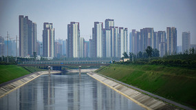 影片质感城市建筑