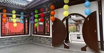 成都大慈寺中式月亮门
