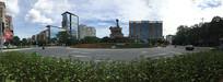 新会牛雕岗循环岛广场全景