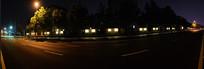 城市夜晚的公路
