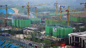 高层建筑工地景观