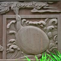 龟吐祥云浮雕
