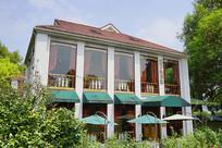 橘子洲中西合璧风格的餐厅外景