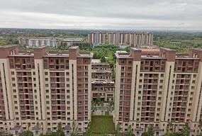 城市建筑群俯视