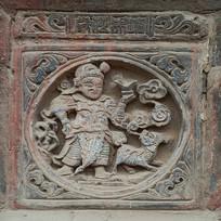 古装人物砖雕