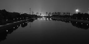 黑白色调城市建筑景观