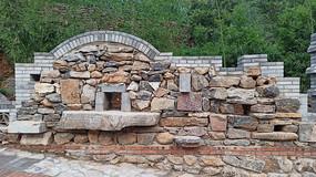 農村的石墻建筑展示
