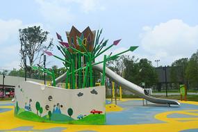 成都东风渠绿道公园游乐设施
