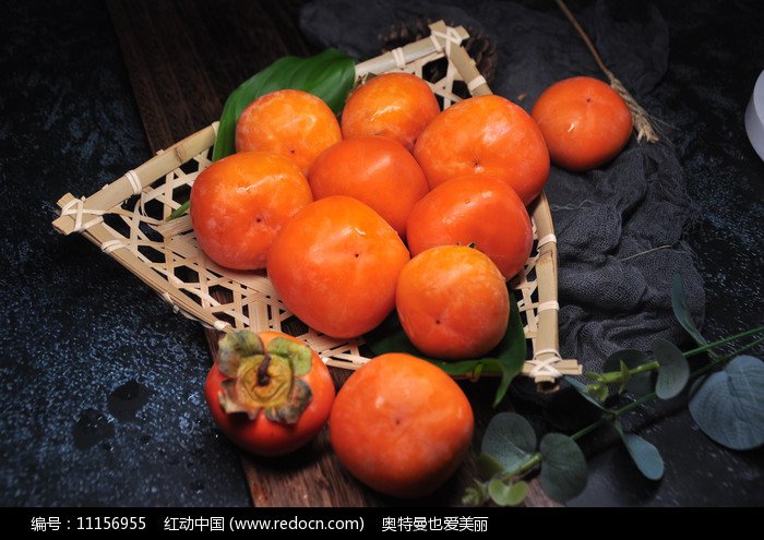 一篮子柿子