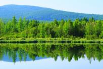 大兴安岭森林湖山水风光