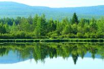 森林湖山水风光