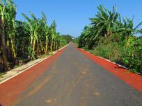 涠洲岛的五彩公路