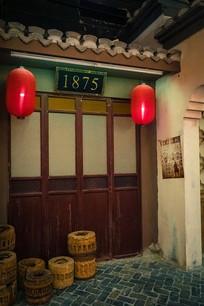 仿古建筑门