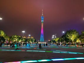 广州塔灯光节夜景
