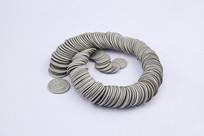 一串分币硬币