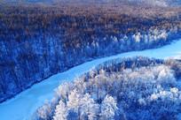 大兴安岭冬季原始森林雪域冰河