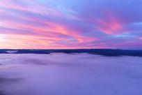 大兴安岭云端朝阳风景