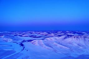 雪域雪原群山雪景