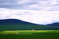 草原牧场蒙古包风景