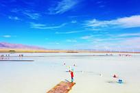 茶卡盐湖风景