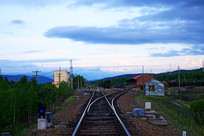 大兴安岭牙林线铁路小站
