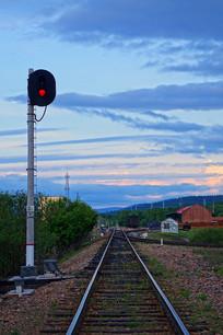 大兴安岭牙林线铁路小站信号灯