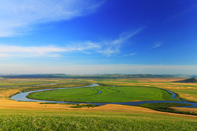 额尔古纳河牧场