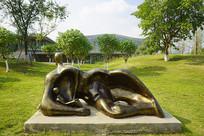 公园雕塑-母子亲情