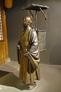 古代进京赶考雕塑